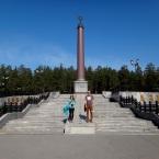 Hranica medzi Európou (Nika) a Áziou (Peťo), Pervouralsk, blízko Jekaterinburgu, Rusko