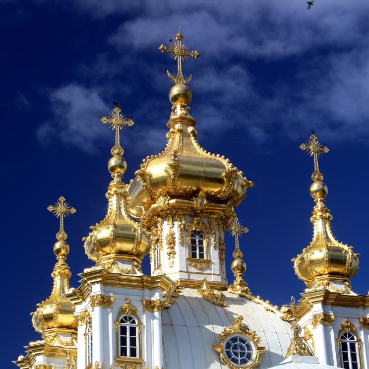 Zlaté vežičky jedného z mnohých palácov