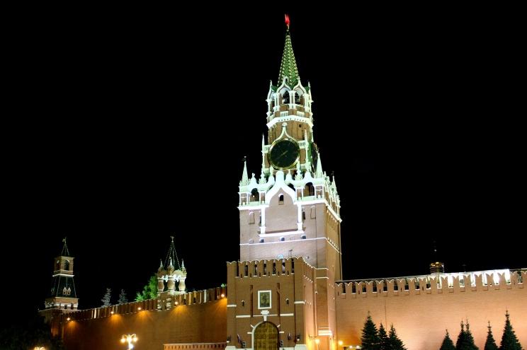 Spasskaya Tower na múroch Kremľa