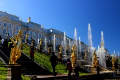 Veľké kaskády pri paláci Grand Peterhof