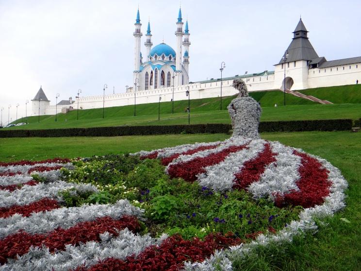 Kazanský Kremeľ s mešitou vo vnútri