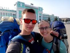 Jedna z prvých fotiek po príchode do Novosibirsku