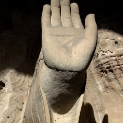 """Talk to my hand"". Yungang Grottoes"