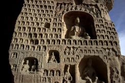 Stovky sošiek Buddhu