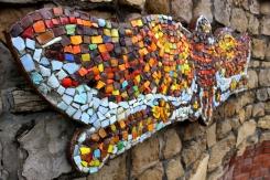 Dekorácia. Motýľová mozaika
