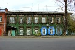 Jeden z mnohých drevených domcov v Irkutsku