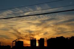 Západ slnka nad Ulaanbaatarom
