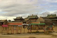 Chrám v bývalom hlavnom meste Kharkhorin