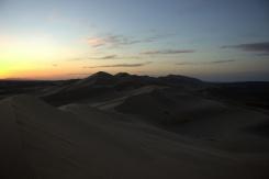 Západ slnka ponad piesočné duny