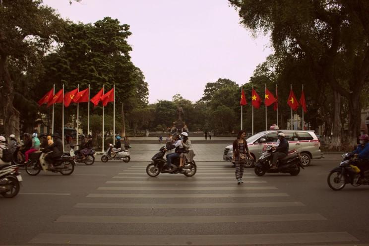 Vietnamské vlajky sa nehľadali ťažko