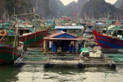 Plávajúce rybárska dedinka