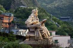 Monumentálna socha v okolí mestečka Juifen