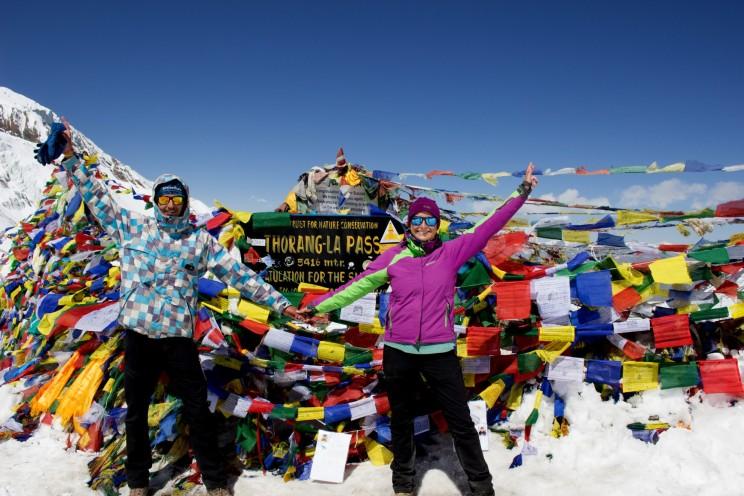 Spoločná fotka na vrchole - Thorung-La Pass (5,416 m)