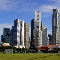 Singapore Skyline počas dňa