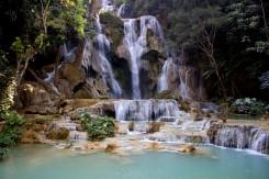 Luang Prabang neponúka len chrámy ale aj nádherné vodopády