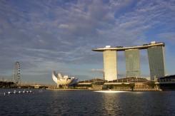 Známa singapurská zátoka Marina Bay