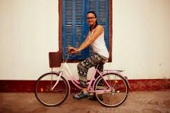 Cyklista v Savanakethe