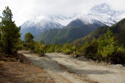 Cestička okolo pohoria Annapurny