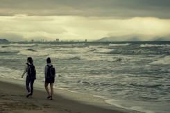 Rozbúrené more pri Danangu