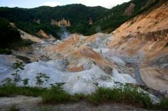 Noboribetsu Hell Valley - krajinka ako na Marse a do pekla odtiaľto určite nie je ďaleko