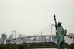 Socha slobody - nie, nie sme v New Yorku, jednu majú aj na ostrove Odaiba v Tokyu
