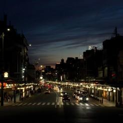 Nočná atmosféra Kyota