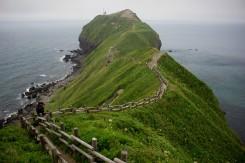 Cape Kamui - Hokkaido lemujú dlhé skalnaté útesy