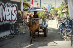 Na ostrovoch Gili nenájdete žiadne autá, funguje tu však koňotaxi