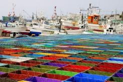 Prístav na východe Hokkaida pri meste Aidomari